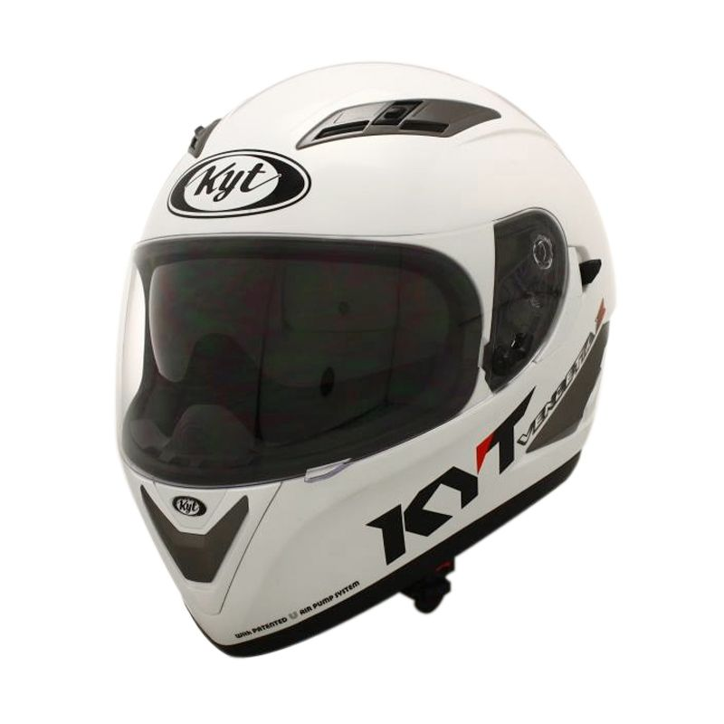 KYT Vendeta 2 Solid White Pearl Gold Helm Full Face