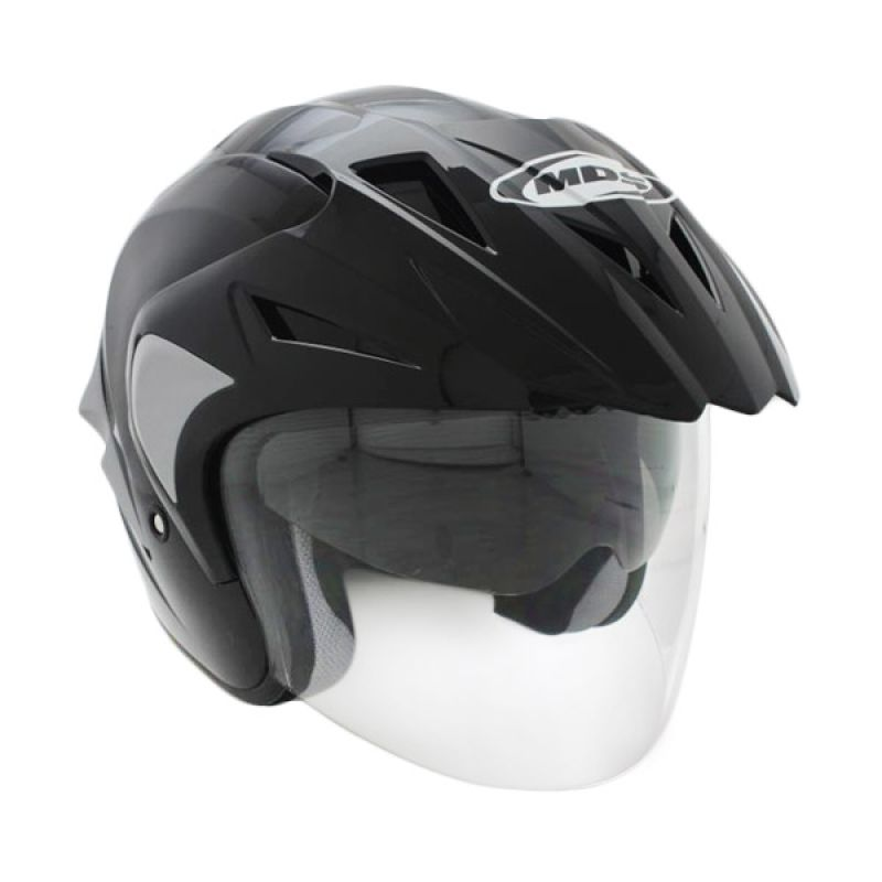 MDS Projet 2 Solid Black/Silver Doft Helm Open Face