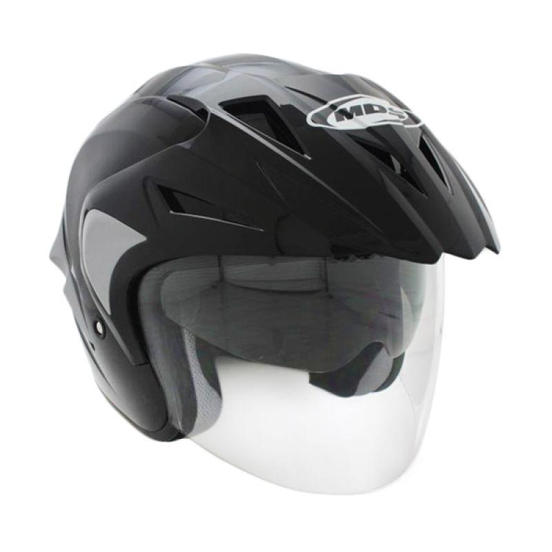 MDS Projet 2 Solid Black/Silver Doft Helm Open Face