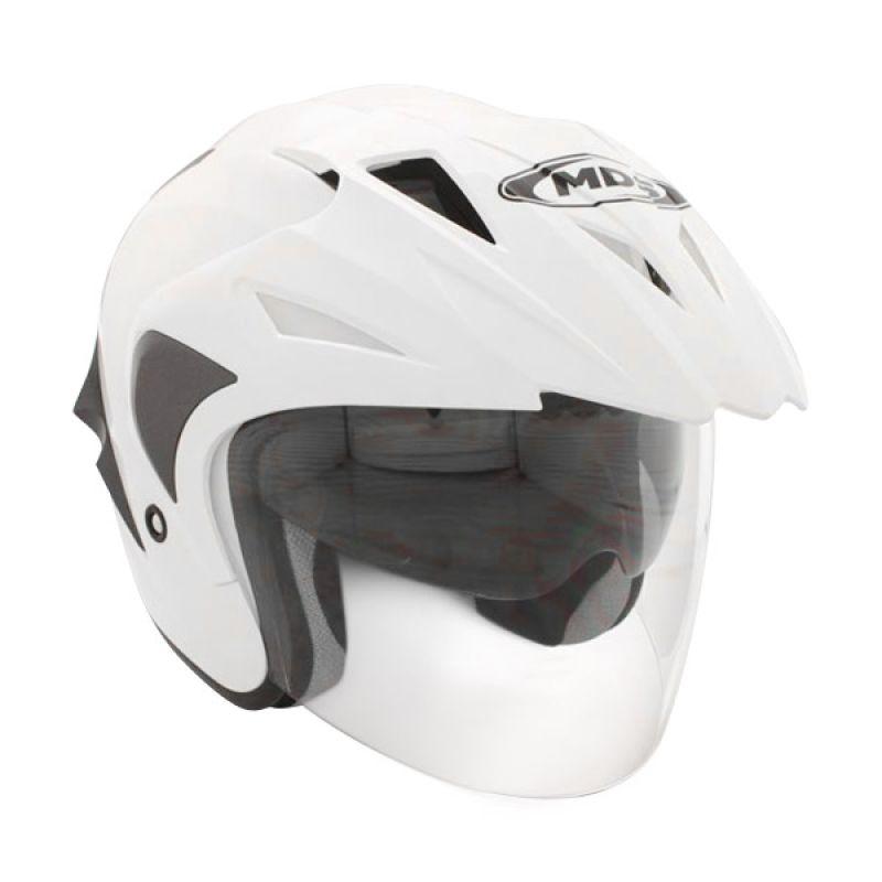 MDS Projet 2 Solid White/Gun Metal Doft Helm Open Face