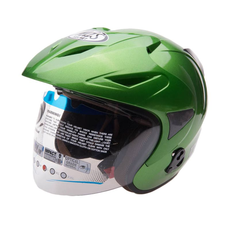 MDS Protector Solid Green Sand Clear Helm Half Face