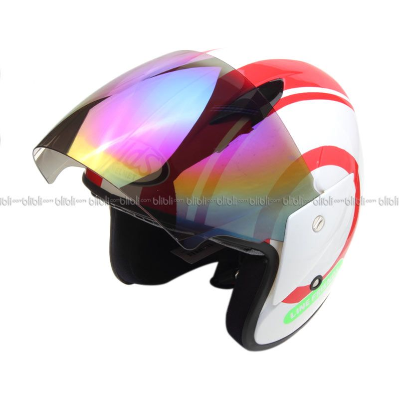 MDS Sport R3 Line Friends-WH/RD Helm Open Face