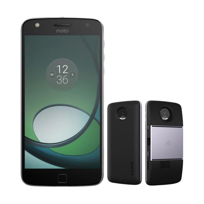 harga Preorder - Moto Z Play Smartphone - Black + Projector Mods + Incipio Power Mods Blibli.com