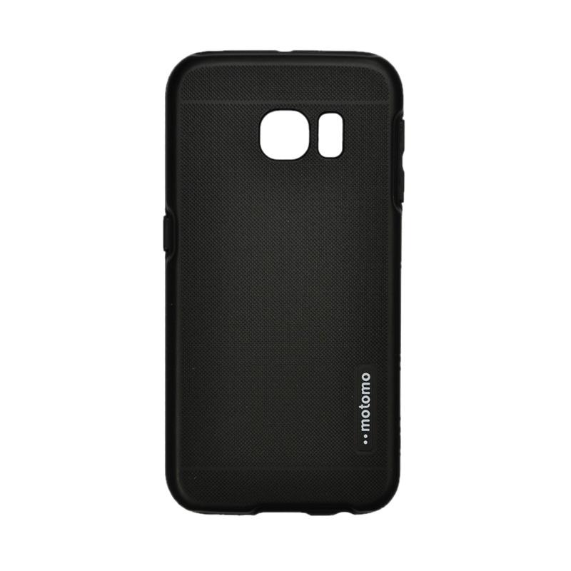 Motomo 2 Tone Casing for Samsung Galaxy 6 Edge - Black [Double Layers]