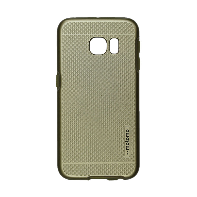 Motomo 2 Tone Double Layers Casing for Samsung Galaxy 6 Edge - Gold