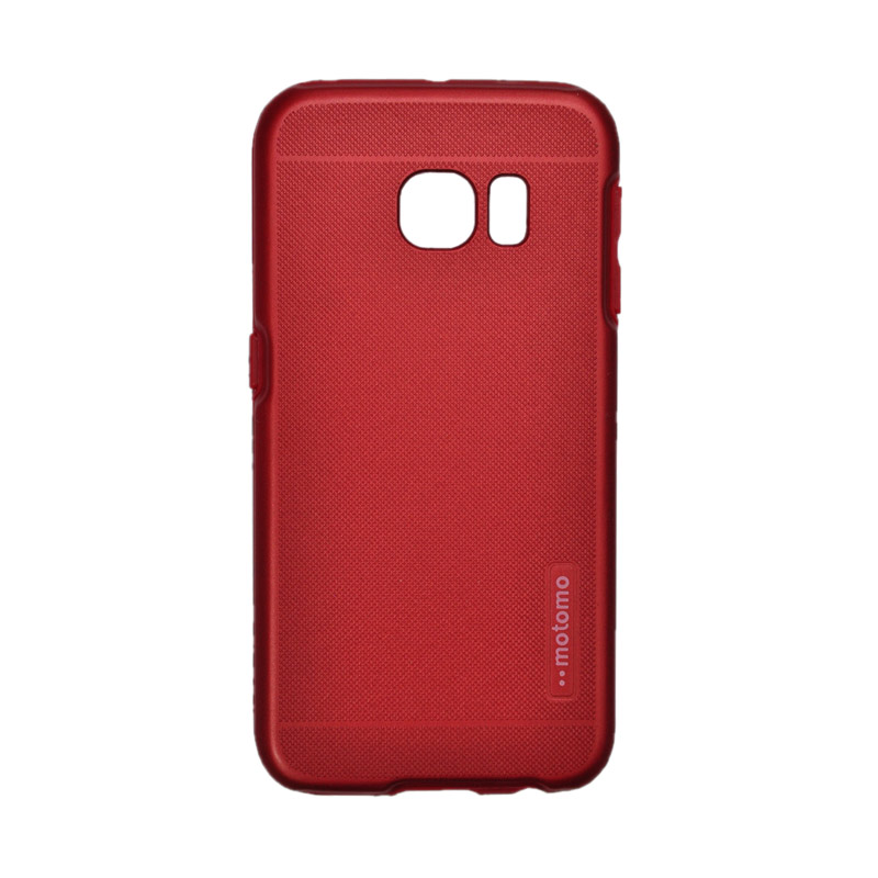 Motomo Case 2 Double Layers Casing for Tone Samsung Galaxy 6 Edge - Red