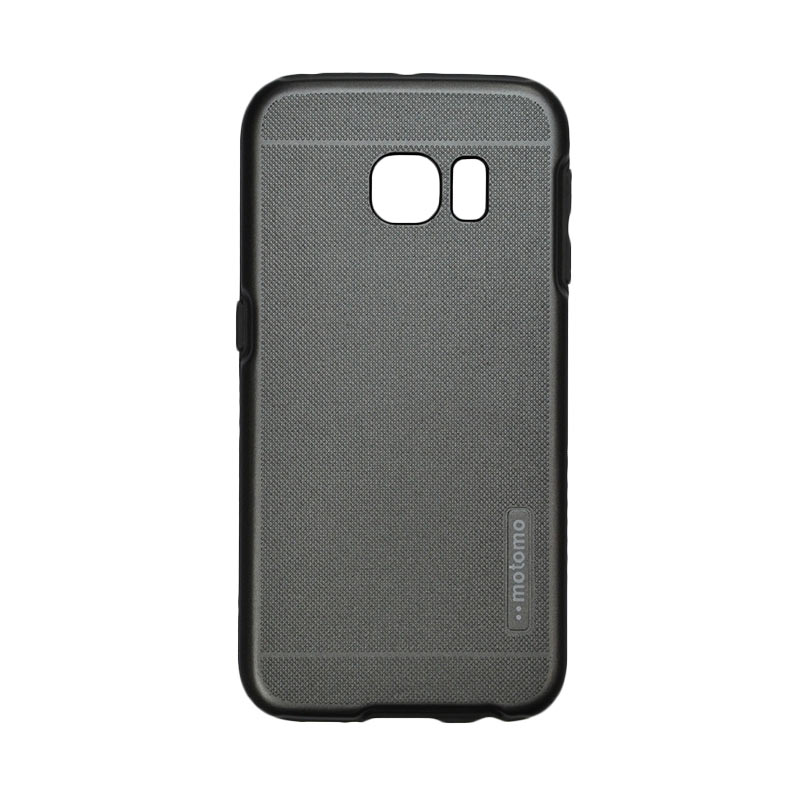 Motomo Case 2 Tone Double Layers Casing for Samsung Galaxy 6 Edge - Grey
