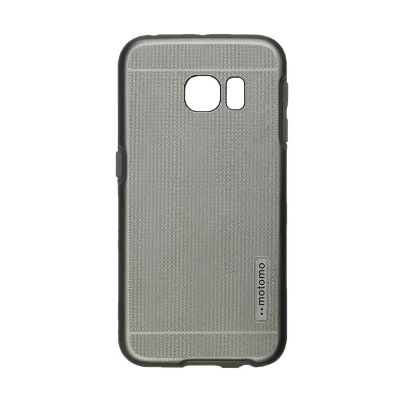 Motomo Case 2 Tone Double Layers Casing for Samsung Galaxy 6 Edge - Silver