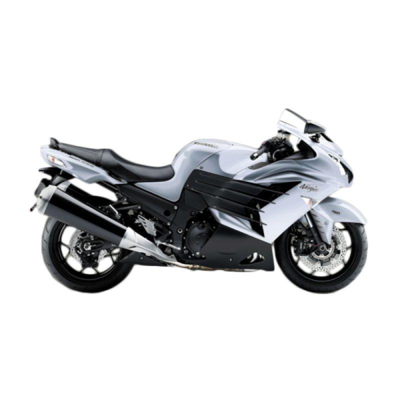 Kawasaki Ninja ZX-14R White Sepeda Motor [DP 150.000.000]