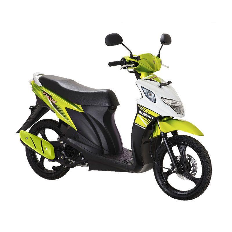 Suzuki Nex FI Flash Green Brilliant White Sepeda Motor [Uang Muka Kredit]