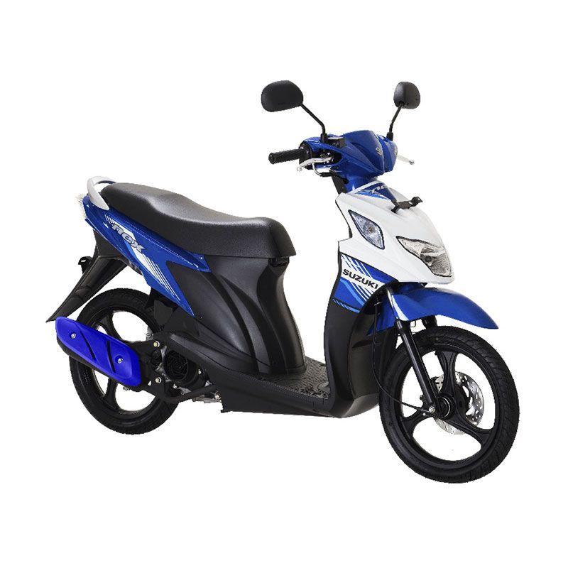Suzuki Nex FI Met.Medium Blue Brilliant White Sepeda Motor [Uang Muka Kredit]