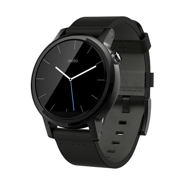 harga Moto 360 2ndGen Leather Smartwatch - Black [42mm] Garansi Resmi Blibli.com