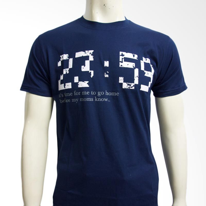 Moving Blue It's Time For Me to Go Home 4619 Navy Blue Kaos Pria