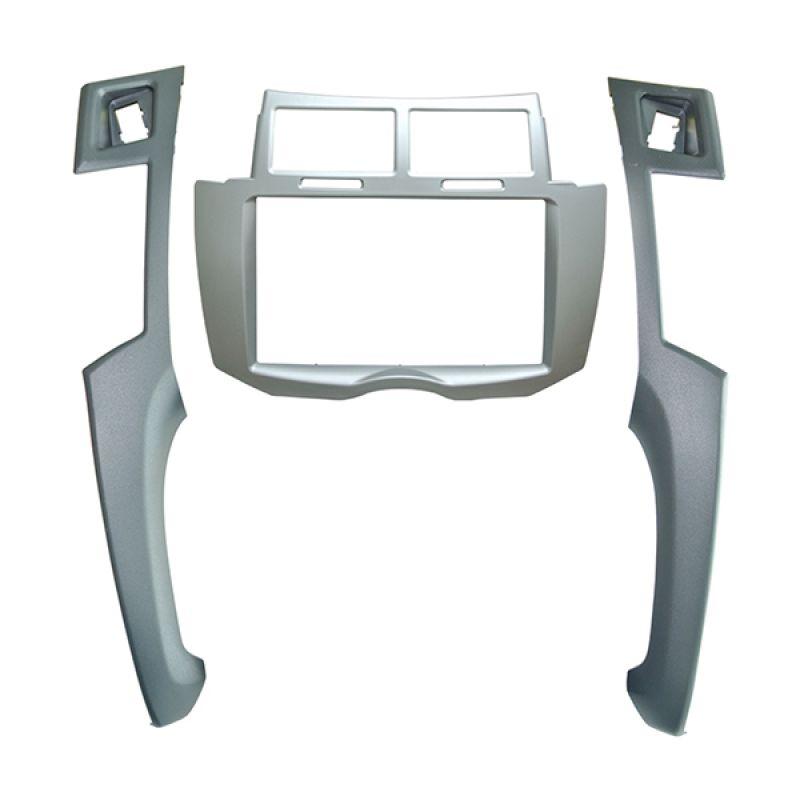 MRZ Frame Double Din Silver Untuk Toyota Yaris 2005 - 2010