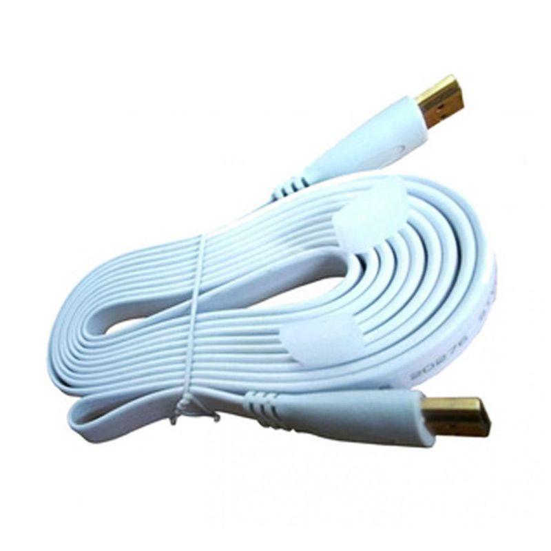 M-Tech Flat Putih Kabel HDMI [1.4/3m]