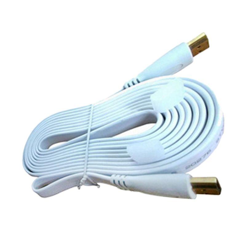 M-Tech Versi 1.4 Putih Kabel HDMI Flat [1.5 M]
