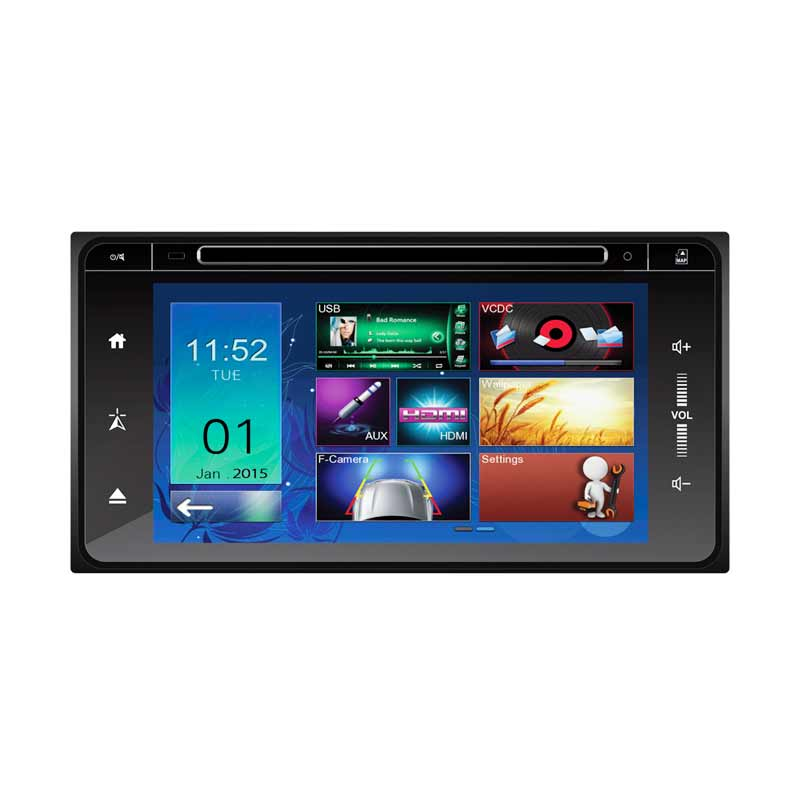 MOBILETECH MM 8808 HD Capacitive Original Headunit Double Din for Innova/Fortuner [6.8 Inch]