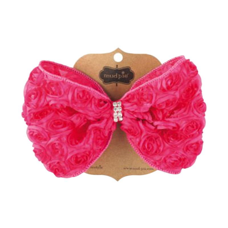 Mudpie #1512136 Oversized Rosette Bow Jepitan Rambut - Pink