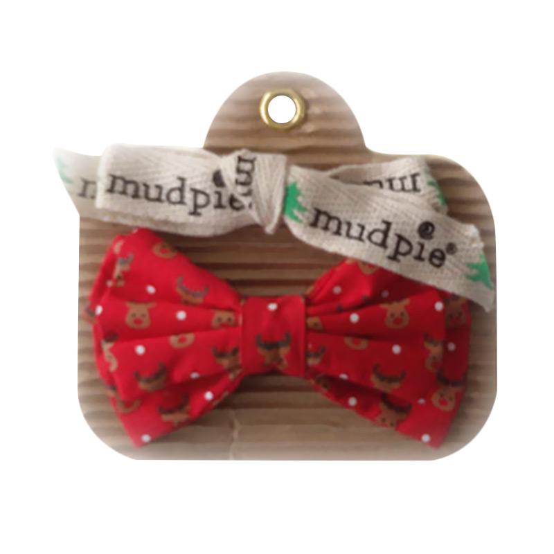 Mudpie #1582118-R Bowtie Spinner 6 Asst Reindeer Print Jepitan Rambut