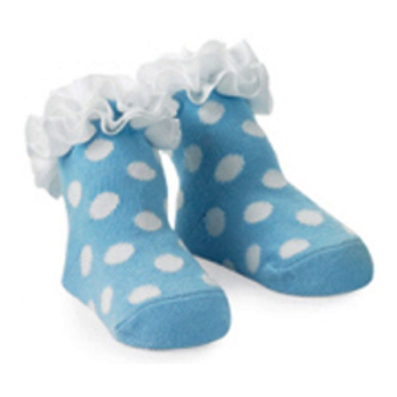 Mudpie - Blue Girls Socks Polkadot