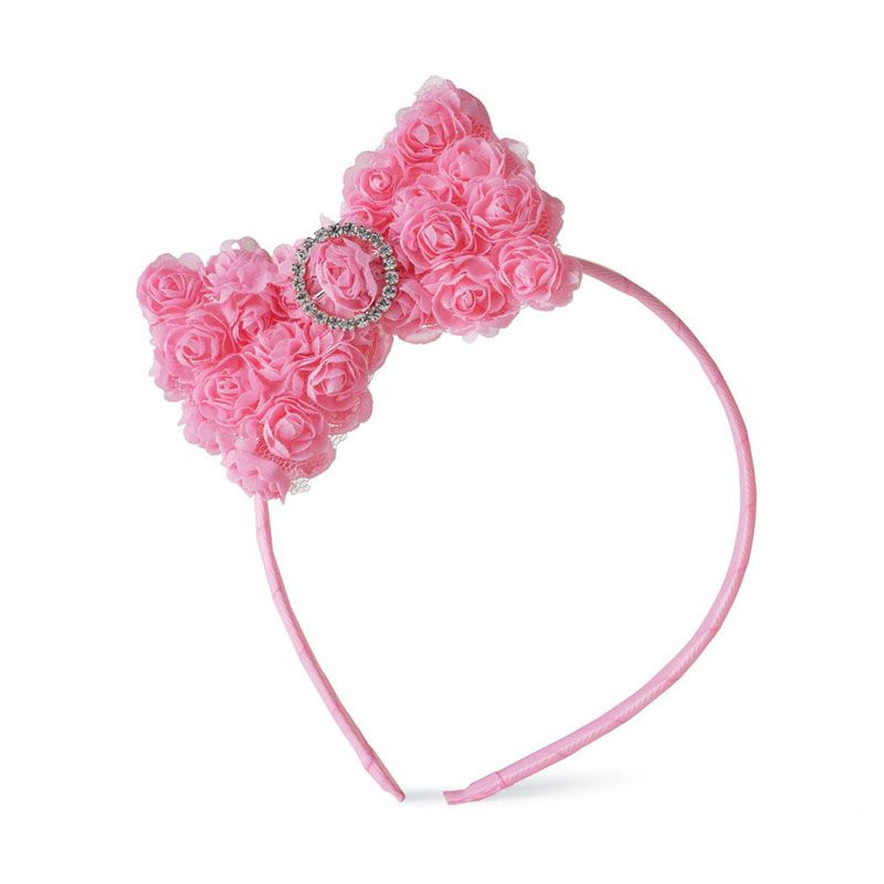 Mudpie - Chiffon Rosette Big Girl Headband Soft Pink