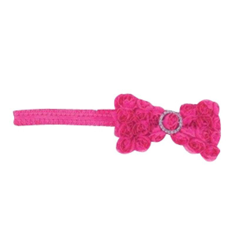 Mudpie - Chiffon Rosette Soft Headband Hot Pink