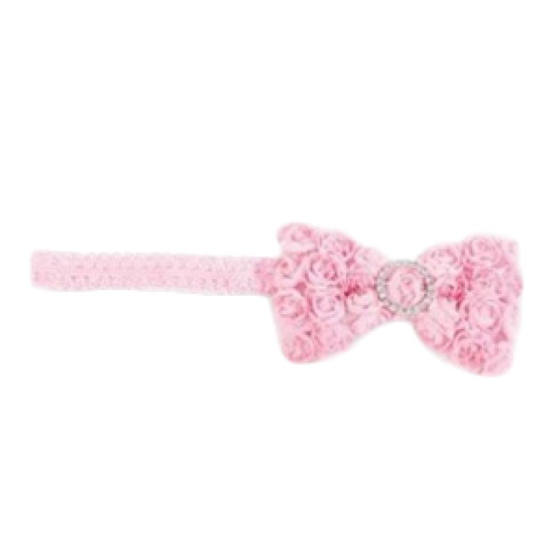 Mudpie - Chiffon Rosette Soft Headband Soft Pink