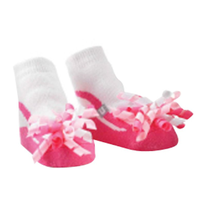 Mudpie - Corker Bow Socks Shock Pink