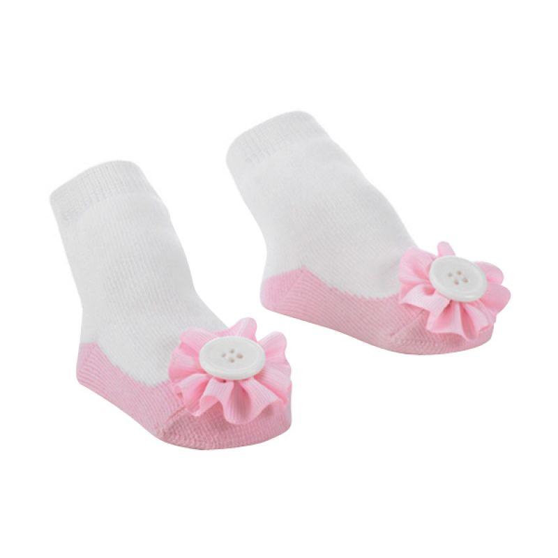 Mudpie - Girl Ballet Flat Button Ruffle Socks