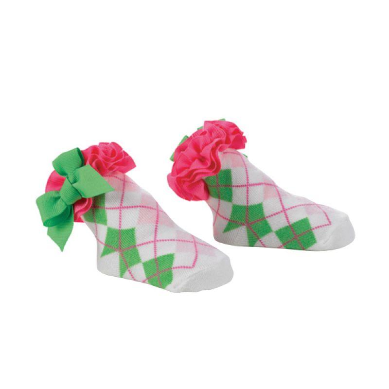 Mudpie - Girl Hot Pink Argyle Socks