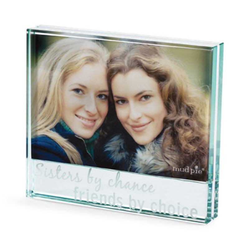 Mudpie - Sisters By Chance Glass Frame