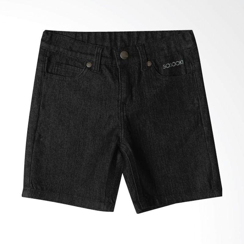 Sosooki - Skinny Leg Denim Short/Indigo