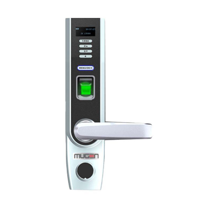 Mugen Keylock Sidik Jari Hitam Mesin Akses Kontrol Pintu