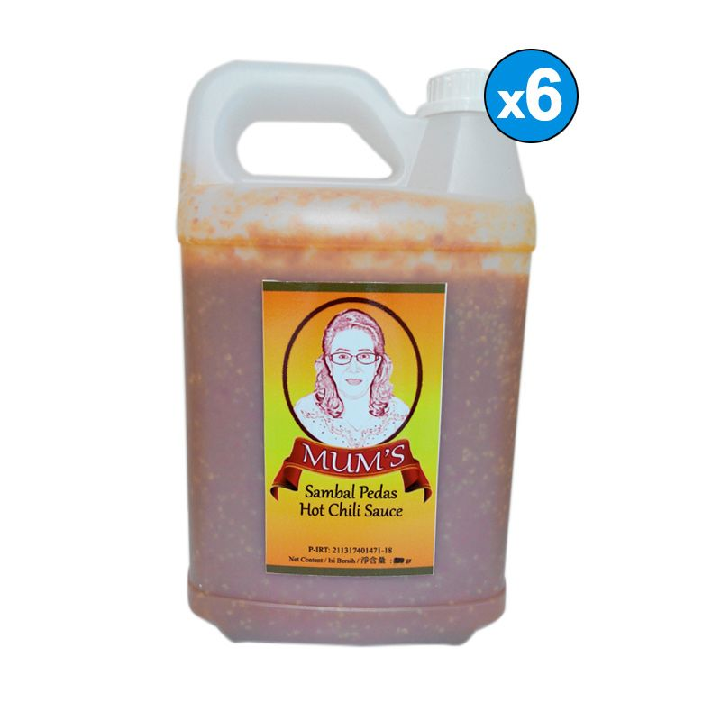 Mum's Sambal Pedas Hot Chili Sauce Jerrycan [5 L/6 Pcs]