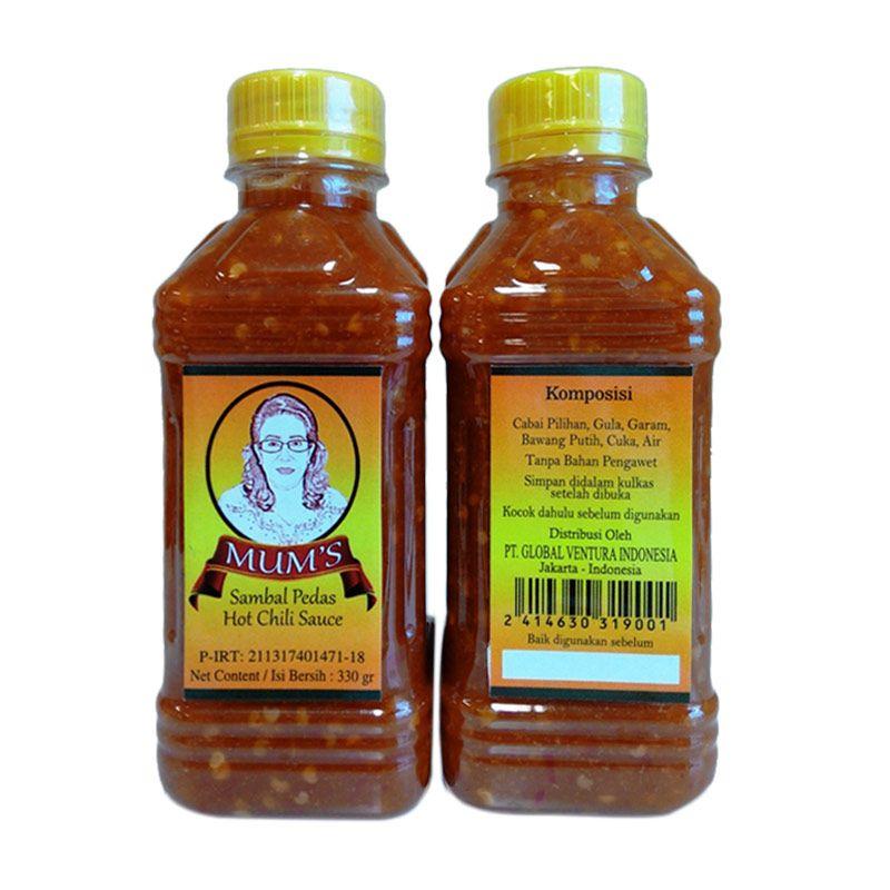 Mum's Sambal Pedas Hot Chili Sauce Bottle [330 gr/12 Pcs]
