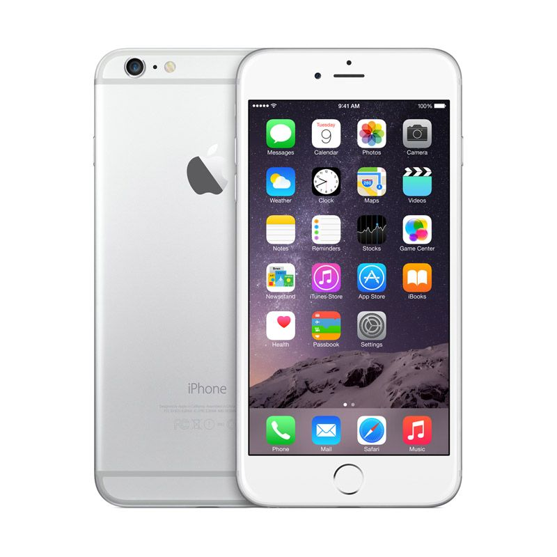 Diskon Apple iPhone 6 Plus 128 GB Silver Smartphone