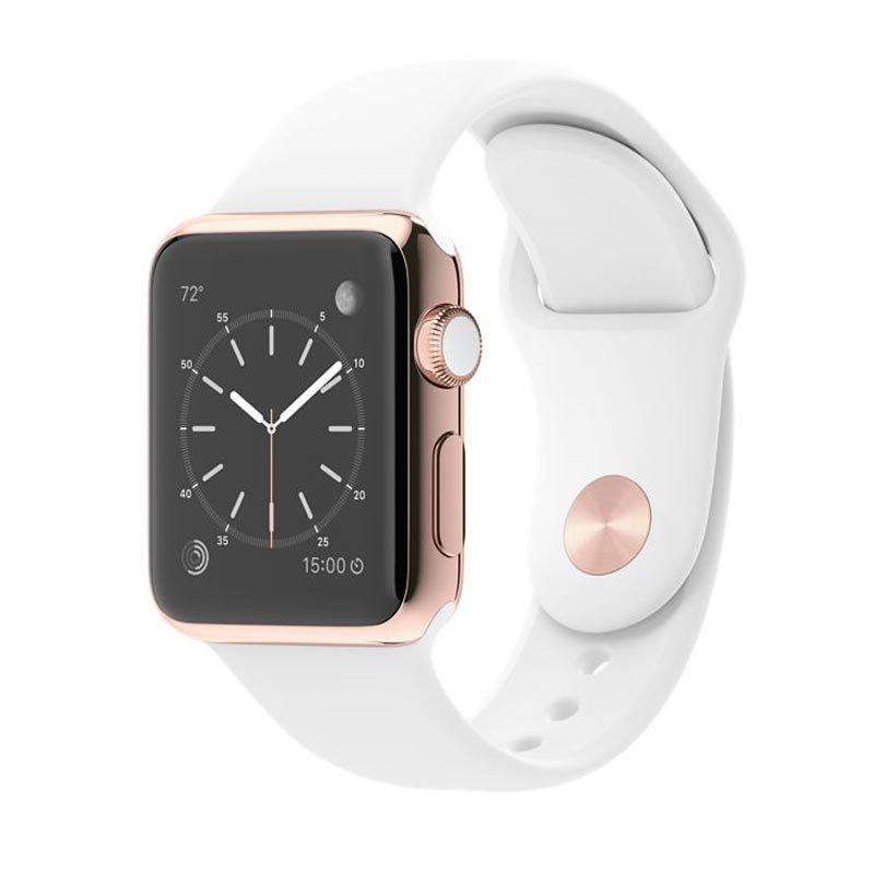 Apple Watch Edition Sport Band White Smartwatch [38 mm/18 karat]