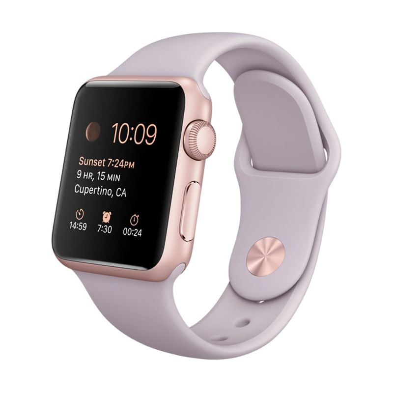Apple Watch Sport 38mm Rose Gold Lavender Smartwatch [Anodized Aluminum with Ion-x Glass]