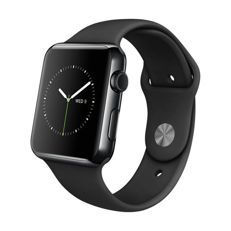 Apple Watch Sport Band 42mm Space Black Smartwatch [316L Stainless Steel with Sapphire Crystal]