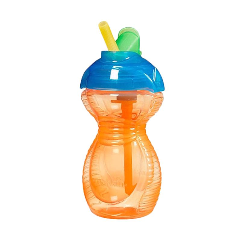 Munchkin Orange Blue Flip Straw Cup 9oz