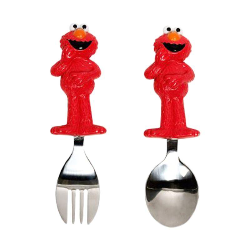 Munchkin Sesame Street Toddler Fork & Spoon Alat Makan bayi
