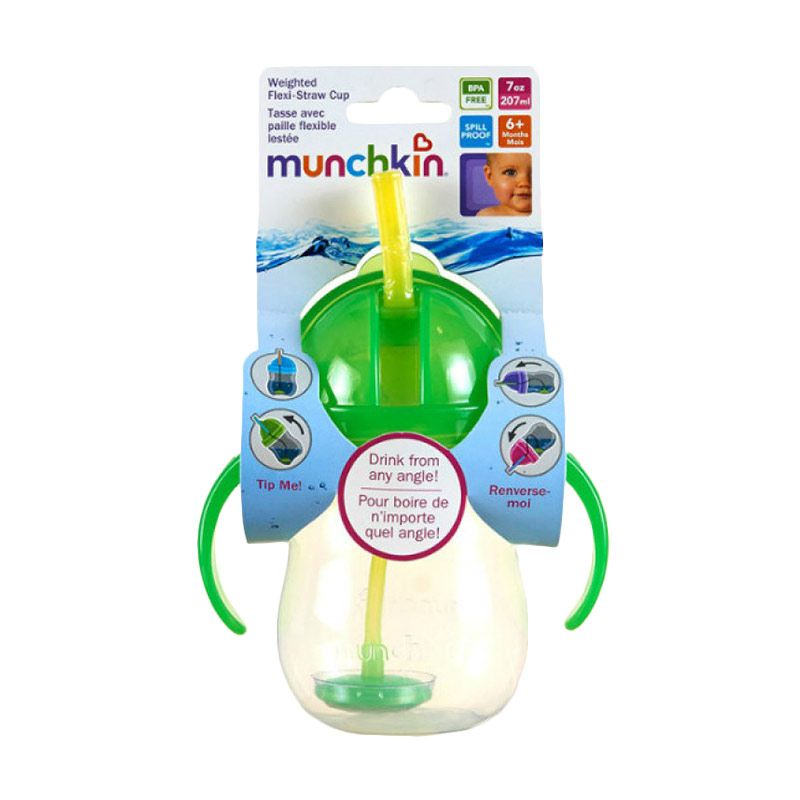 Munchkin Weighted Flexi Straw Cup 7oz Green