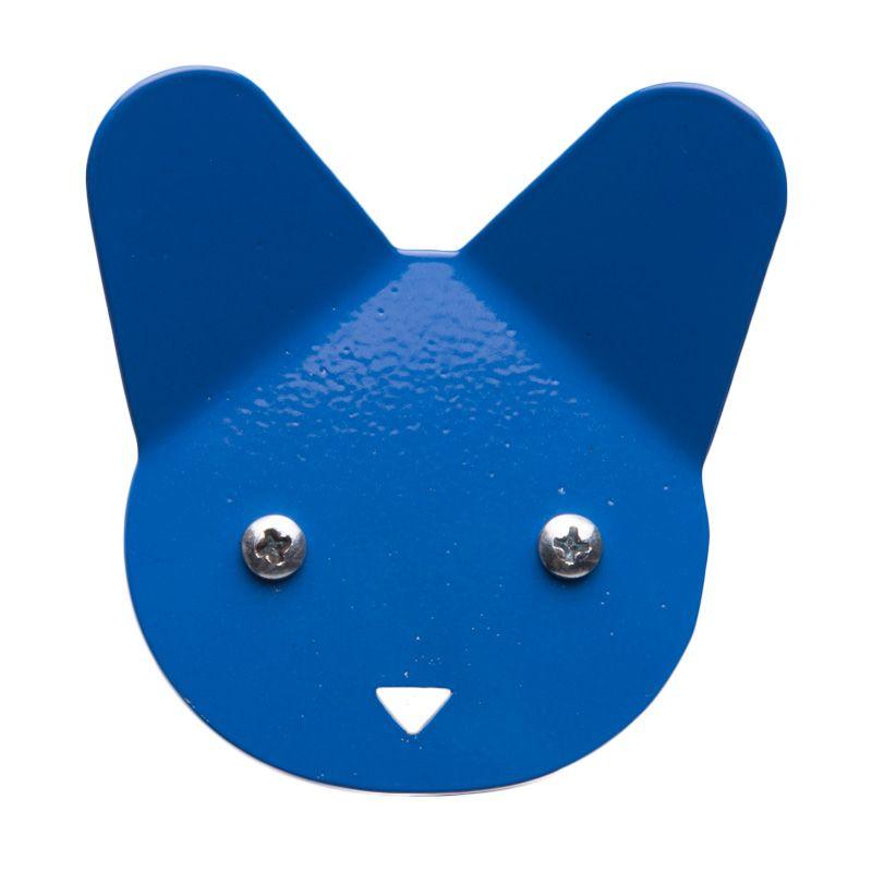 My Choice Decorative Cat Face Design Blue Hanger