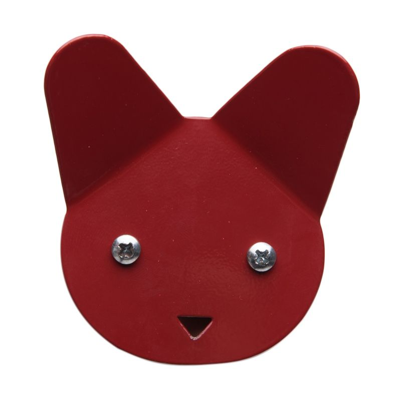 My Choice Decorative Cat Face Design Red Hanger