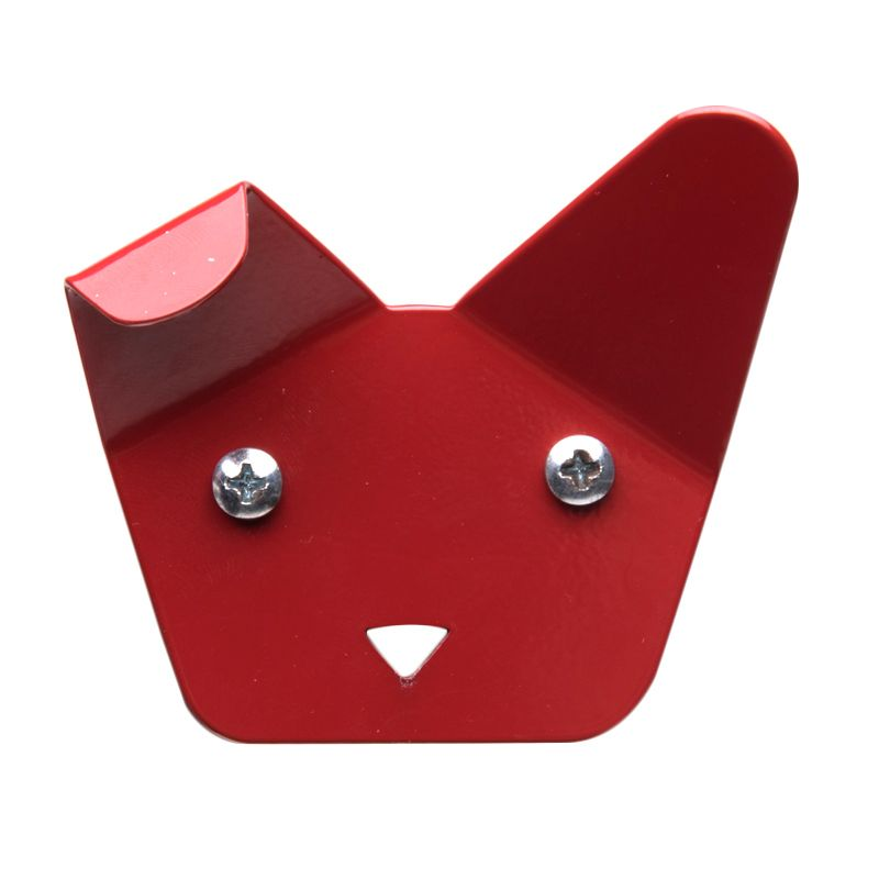 My Choice Decorative Dog Face Design Red Hanger