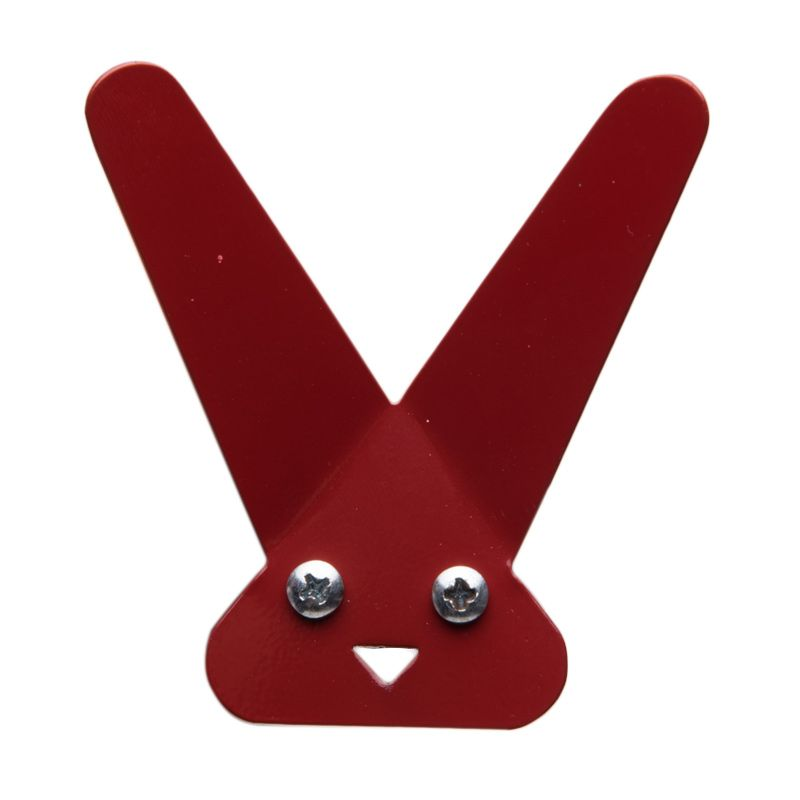 My Choice Decorative Rabbit Face Design Red Hanger