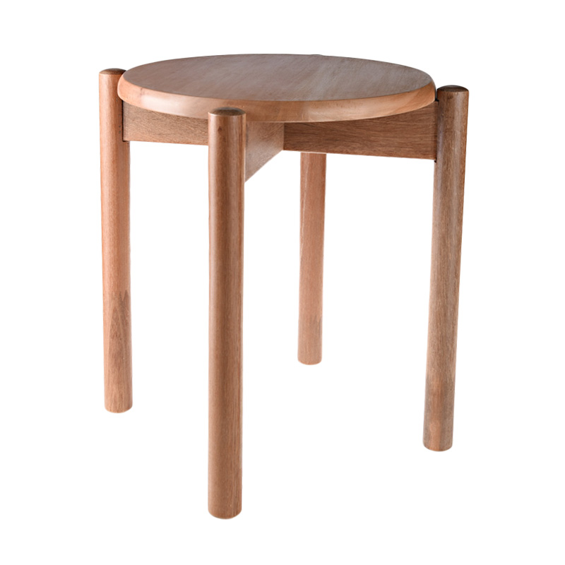 Infinia Home IF-00060M kayu Bengkirai dan Mahogani Kursi Bulat [bangku kayu bulat]