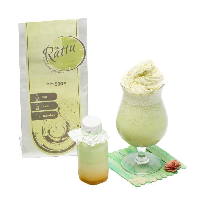 Rattu Beverage Green Tea Premium Minuman Instan [500 g]