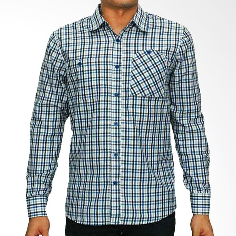 My Doubleve Checkered Shirt Blue Grey