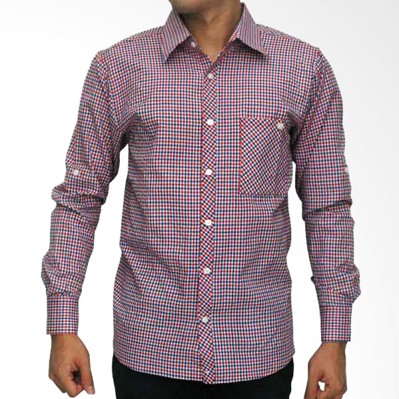 My Doubleve Checkered Shirt Blue Red